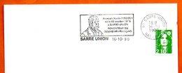 67 SARRE UNION   FRANCOIS XAVIER NIESSEN  1990 Lettre Entière N° BC 813 - Marcophilie (Lettres)