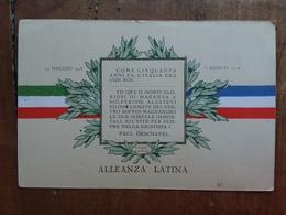Alleanza Italo-francese 1° Guerra Mondiale - Cartolina Nuova + Spese Postali - Patriottiche