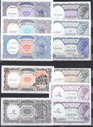 EGYPT 5 10 PT. PIASTRES 1971 2000 P-182 183 190 LOT X11 UNC NOTES . ALL COLORS SET - Egypte