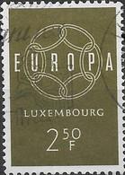 LUXEMBOURG 1959 Europa - 2f.50 - Green FU - Usati