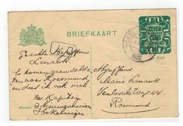 Briefkaart 1922 Verstuurd V Hekelingen Naar Roermond ( Enkele Plooien Zie Scan ) - Entiers Postaux