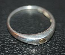 Bague Argent Avec Un Grain D'or - Silver Ring - Bagues