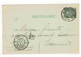 Briefkaart 1906 Verstuurd V Amsterdam  Naar Roermond - Period 1891-1948 (Wilhelmina)