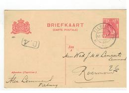 Briefkaart 1920 Verstuurd V TILBURG  Naar Roermond - Entiers Postaux