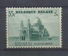 D - [202324]TB//**/Mnh-N° 472-v10+cu, 35c+5c Vert, Basilique De Koekelberg, Tache Verte Sous Le 1er 'E' De Belgie + Curi - Varietà E Curiosità
