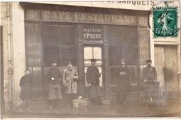 Montfort L'Amaury , Carte Photo , Café Restaurant Victor Prostot , 31 Rue De Paris - Montfort L'Amaury
