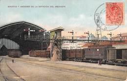 """09731 """"MADRID - ANDENES DE LA ESTACION DEL MEDIODIA - BANCHINE DELLA STAZIONE""""   TRENI, ANIMATA. CART  SPED 1911 - Madrid"""