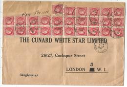MAZELIN 1FR BLOC DE 15+1 GRANDE LETTRE AVION PARIS 2.2.1948 POUR LONDRES - 1945-47 Ceres (Mazelin)