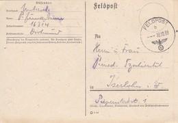 Feldpost  - Feldpost Nr. 16314 Nach Iserlohn - 1939 (46259) - Covers & Documents