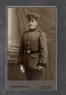 Y9693/ CDV Foto Soldat Militär Atelier H. Schmeiser, Karlsruhe Ca.1905 - Non Classificati