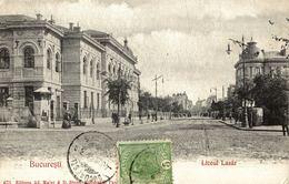 Old Postcard ROMANIA - BUCURESCI, Liceul Lazar - Roumanie
