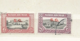 Sudan 1950 Air Sg O65 And O66 Cv £18 - Sudan (...-1951)