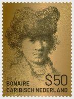 BONAIRE NETHERLANDS - 2019 - Rembrandt $50 Gold -  Perf Single Stamp - M N H. - Stamps