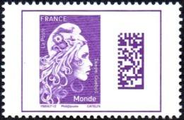 France N° 5258 ** Marianne L'Engagée. Datamatrix, Monde - France