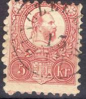HONGRIE !  Timbre Ancien De 1871 N°9 Rouge Carminé ! ANNULATION De Pusztamonostor - Hongrie