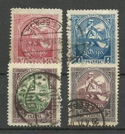 LETTLAND Latvia 1920 Michel 42 - 45 O - Lettonia