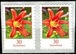 BRD - 2x Mi 3516 Gestanzt Waagrechtes Paar - ** Postfrisch (H) - 30C    Blumen, Taglilie - Ausgabe 02.01.2020 - [7] Federal Republic