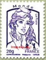 France Marianne De La Jeunesse Par Ciappa Et Kawena N° 4769 ** Le 20 Grammes Monde Gommé Violet - 2013-... Marianne De Ciappa-Kawena