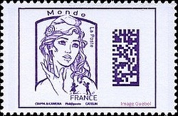 France N° 5020 ** Marianne De Ciappa Et Kawena - Datamatrix Monde (Violet) - Ongebruikt