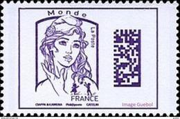 France Marianne De La Jeunesse Par Ciappa Et Kawena N° 5020 ** Datamatrix Monde (Violet) - 2013-... Marianne (Ciappa-Kawena)