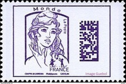 France Marianne De La Jeunesse Par Ciappa Et Kawena N° 5020 ** Datamatrix Monde (Violet) - 2013-... Marianne Van Ciappa-Kawena