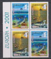 Europa Cept 2001 Azerbaijan 2x2v Booklet Pane  ** Mnh (45709A) - Europa-CEPT