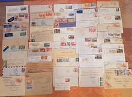Maroc - Lot De 70 Lettres Et 8 Devants - Beaux Cachets Et Affranchissements - DEPART 1 EURO - Morocco (1891-1956)