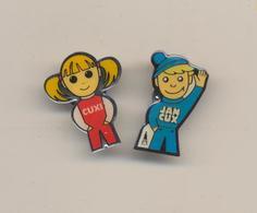 2 PIN's - Cuxhaven - Cuxi Und Jan Cux !!! - ( 39 ) - Villes