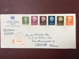 Aangetekende Brief Van Hollandia Naar Den Haag - Nouvelle Guinée Néerlandaise