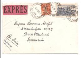 1938. Par Avion-Expres Paris 49 Vers Danmark - Poststempel (Briefe)