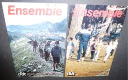 2 Cartes Postales - CFDT (Syndicalisme) Ensemble - La Gestion Du Temps, La Formation à Temps - Syndicats