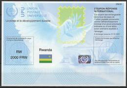 RWANDA RUANDA Is41A  2000 FRW 20180112 AA International Reply Coupon Reponse Antwortschein IAS IRC Hologram Mint ** - Ruanda
