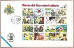 San Marino - Busta FDC Foglietto Ed Annullo Speciale: Storia Del Fumetto Italiano - 1997 - FDC