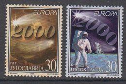 Europa Cept 2000 Yugoslavia 2v  ** Mnh (45712A) ROCK BOTTOM - 2000