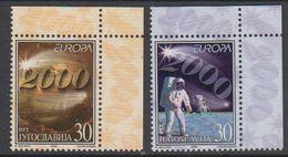 Europa Cept 2000 Yugoslavia 2v (corner) ** Mnh (45712b) KNOCK OUT PRICE - 2000