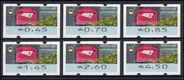 9 Empfangen - 6 ATM 45-450 Cent 2017, Tastensatz TS 1, DRUCKTEILAUSFALL ** - [7] Federal Republic
