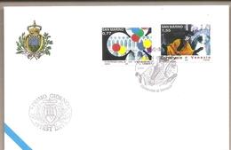 San Marino - Busta FDC Con Serie Completa Ed Annullo Speciale: Carnevale Di Venezia - 2004 - FDC