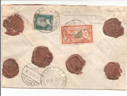1930. Réco-Valeur Paris 37 Vers Österreich Wien. (Cleo De Merode) - Poststempel (Briefe)