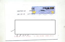 Lettre Flamme Chiffree Sur Vignette Ec - 2000 «Avions En Papier»