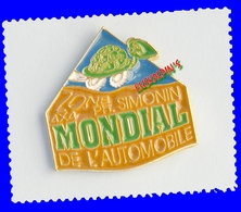 Pin's Mondial De L'automobile, Zone 4 X 4 Philippe SIMONIN, , Tortue, Turtle - Altri