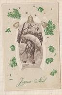 9AL2856 CARTE POSTALE JOYEUX NOEL Enfant Parapluie 2 SCANS - Noël