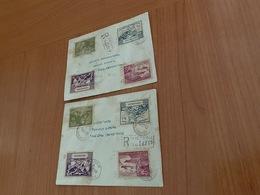 SEYCHELLES - Lot De 2 Lettres Recommandées 1949 Poste De Victoria ( Port Offert ) - Seychelles (1976-...)