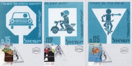 ISRAEL, 1997, Maxi-Card(s), Road Safety, SG1364-1366, F5531 - Tarjetas – Máxima