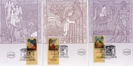 ISRAEL, 1997, Maxi-Card(s), Festival '97 - Paintings Sukkot, SG1368-1370, F5532 - Tarjetas – Máxima