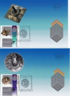 ISRAEL, 1997, Maxi-Card(s), Hanukka, SG1380-1381, F5536 (2 Cards) - Tarjetas – Máxima