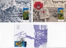 ISRAEL, 1998, Maxi-Card(s), Independence War, SG1384-1386, F5541 - Tarjetas – Máxima