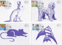 ISRAEL, 1998, Maxi-Card(s), Children's Pets, SG1399-1404, F5549 - Tarjetas – Máxima
