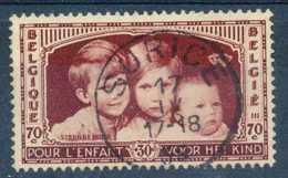 D - [804560]TB//O/Used-Belgique 1935, N° 405, 70c+30c Brun, Enfants Royaux, TB Obl Concours, Petit Cachet à Date 'SURICE - Belgique