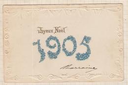 9AL2871 CARTE POSTALE JOYEUX NOEL 1905 2 SCANS - Christmas