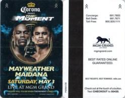MGM Grand Mayweather Vs Maidana -2400----key Card, Room Key, Schlusselkarte, Hotelkarte - Cartas De Hotels